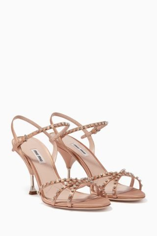 High-heeled sandals