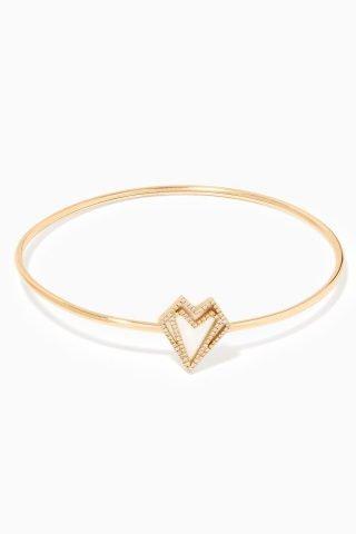 hearts diamond bangle
