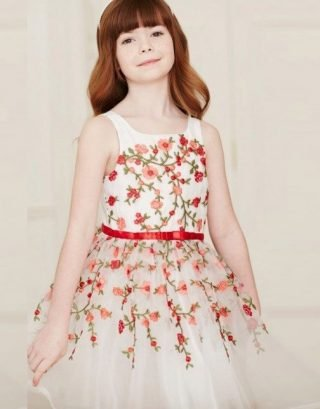 Embroidered Floral Dress for Girls