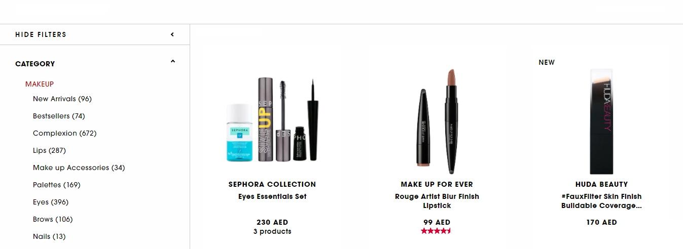 10% Off Sephora UAE Makeup